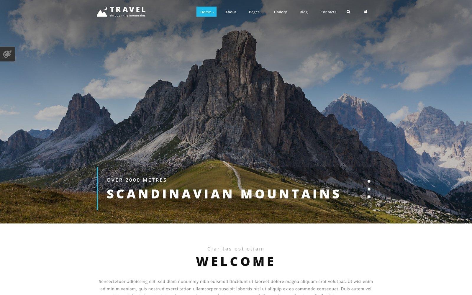 """Responzivní Joomla šablona """"Travel Agency"""" #54559"""