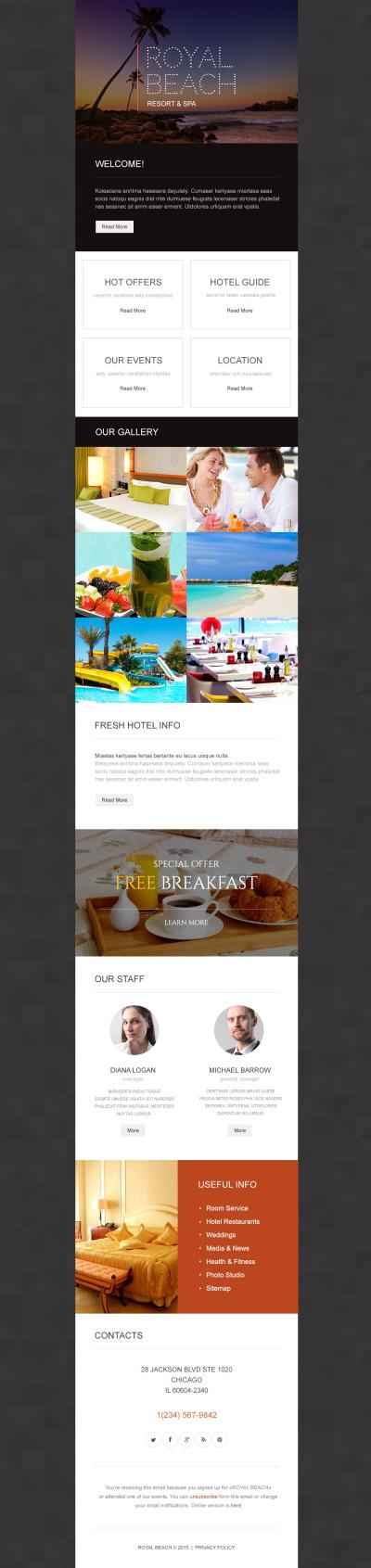 Travel Agency Responsive Newsletter šablona