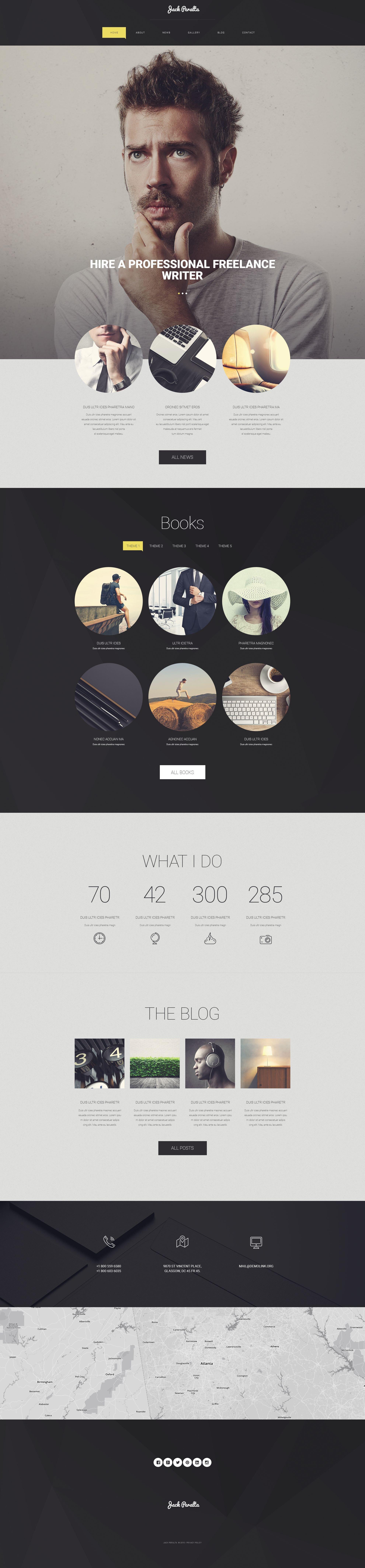 """Responzivní WordPress motiv """"Freelancer spisovatel"""" #54585 - screenshot"""