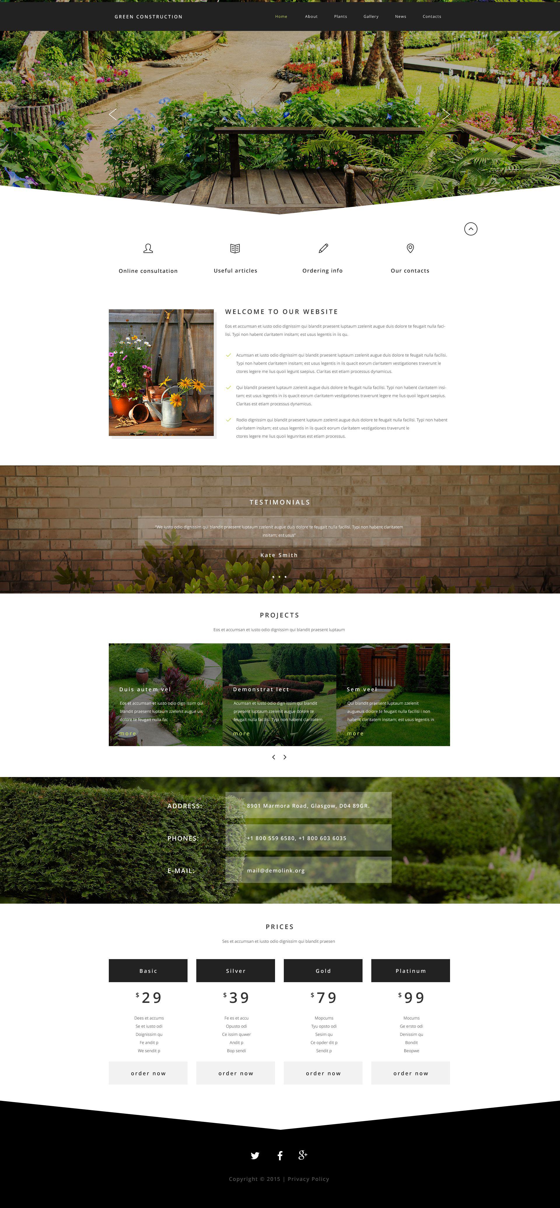 Reszponzív Green Construction Weboldal sablon 54562