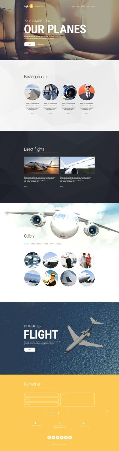 Reszponzív Légitársaságok témakörű  WordPress sablon #54576