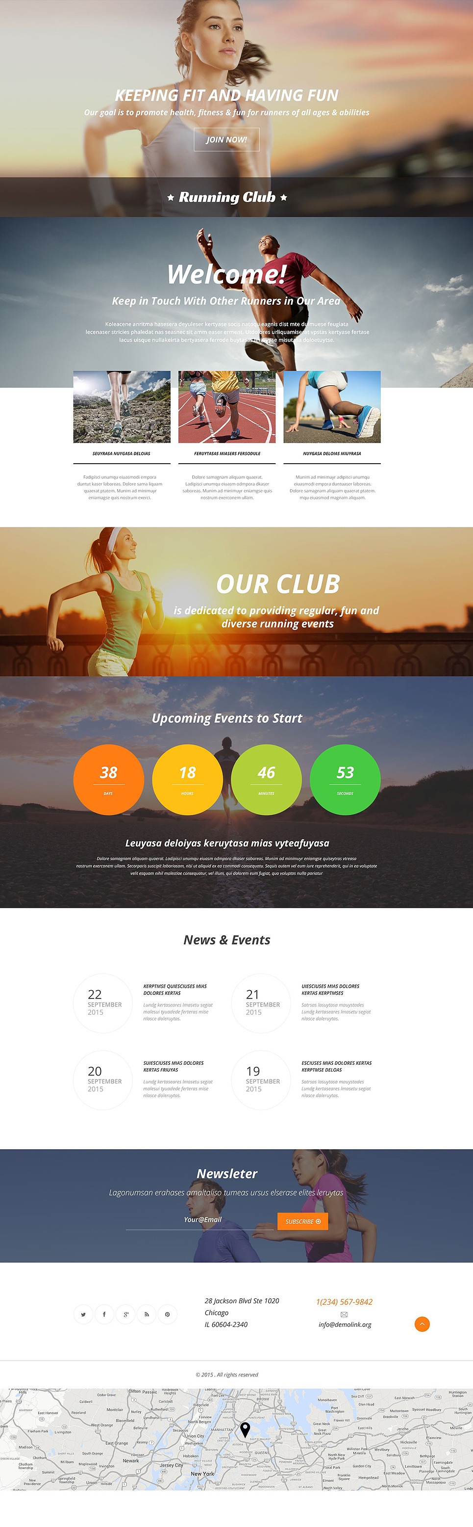 Running Responsive Landing Page Template New Screenshots BIG