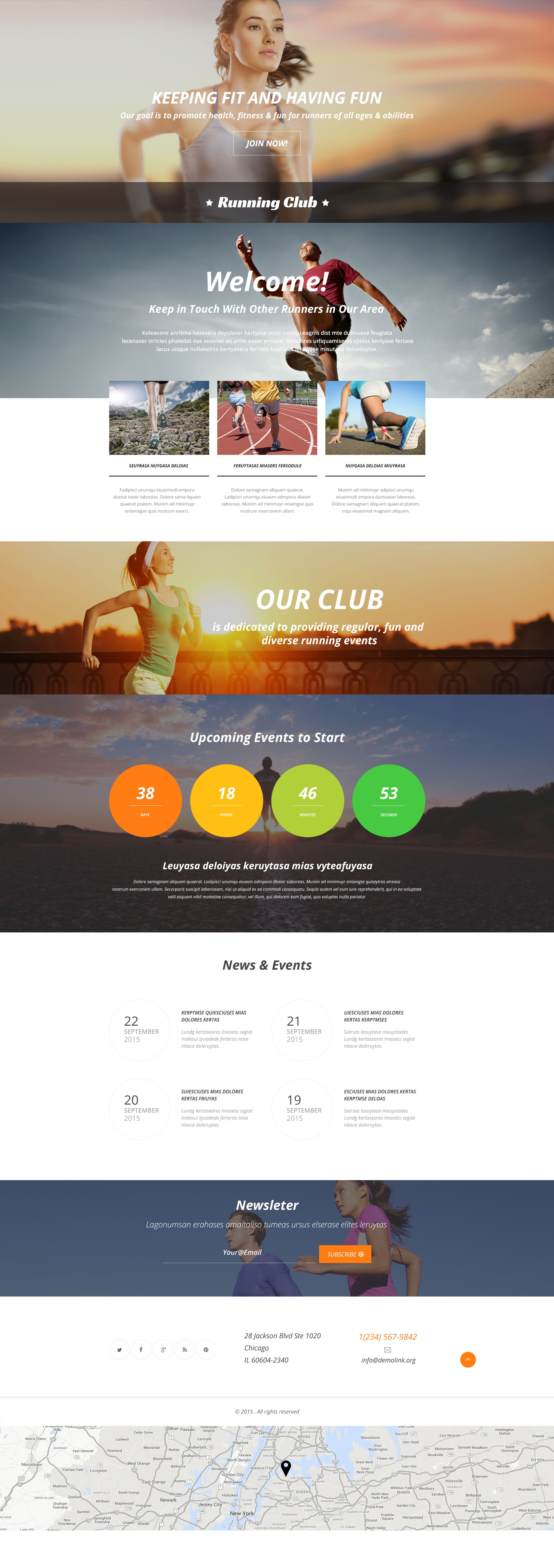 Running Responsive Landing Page Template
