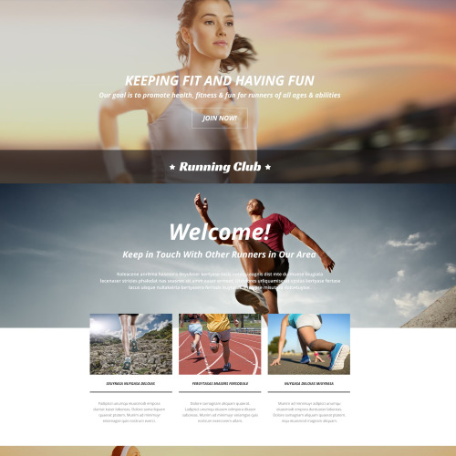Running Club - Responsive Landing Page Template