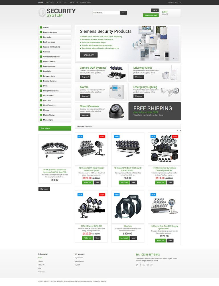 Security Responsive Shopify Theme New Screenshots BIG