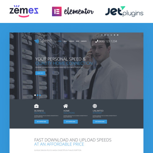 Speed - WordPress Template based on Bootstrap