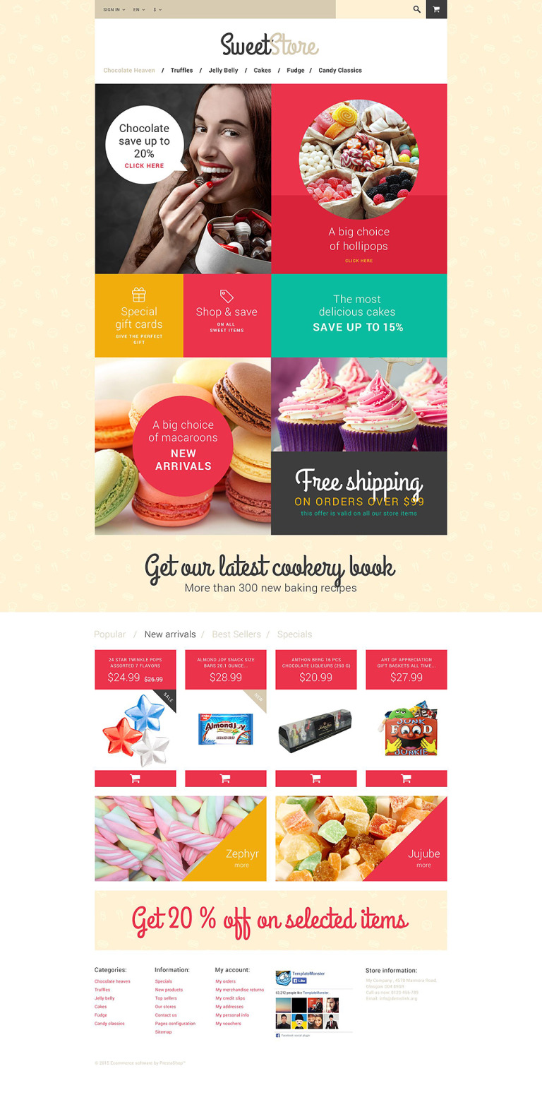 Sweetie PrestaShop Theme New Screenshots BIG