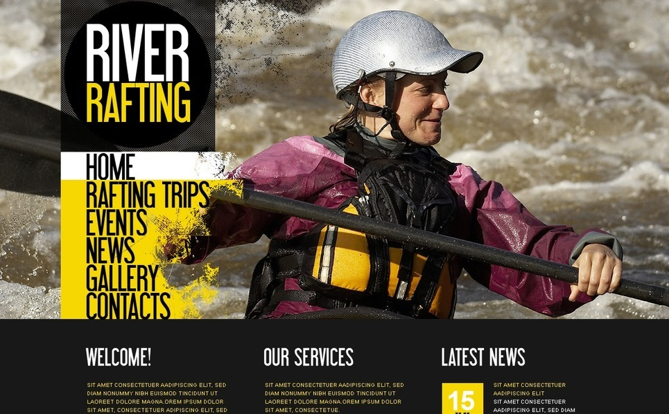 Szablon PSD #54520 na temat: rafting New Screenshots BIG