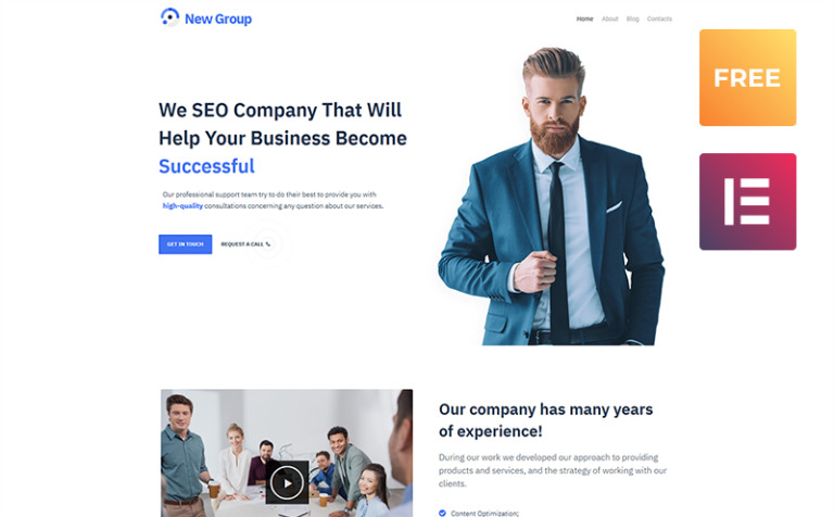 Tema de WordPress #54599 para Sitio de Consultoría