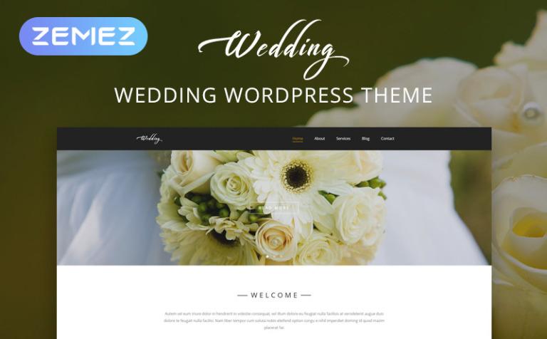 Tema de WordPress #54584 para Sitio de Organización de bodas