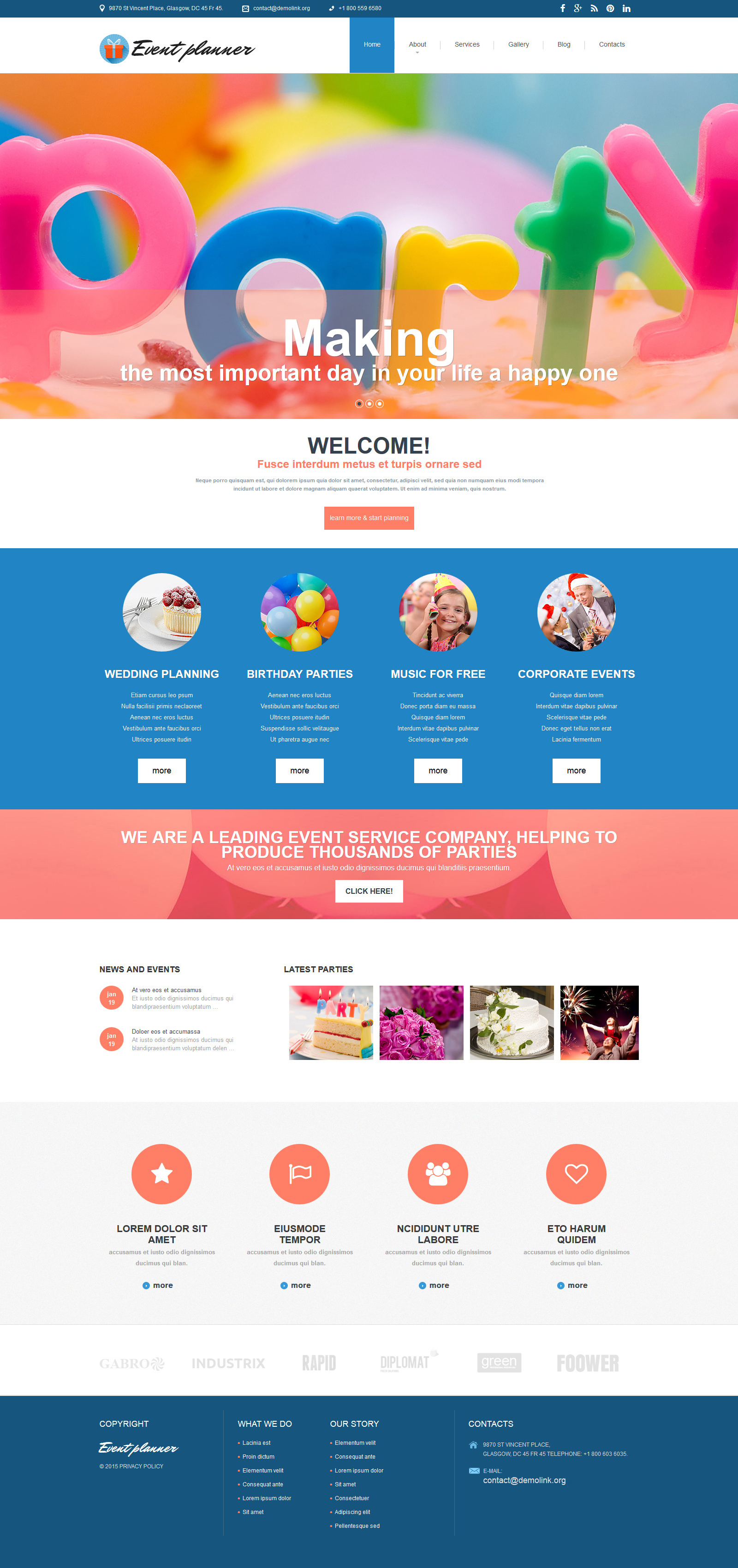 """Tema Joomla Responsive #54552 """"Event Planer - Event Planner Clean"""""""