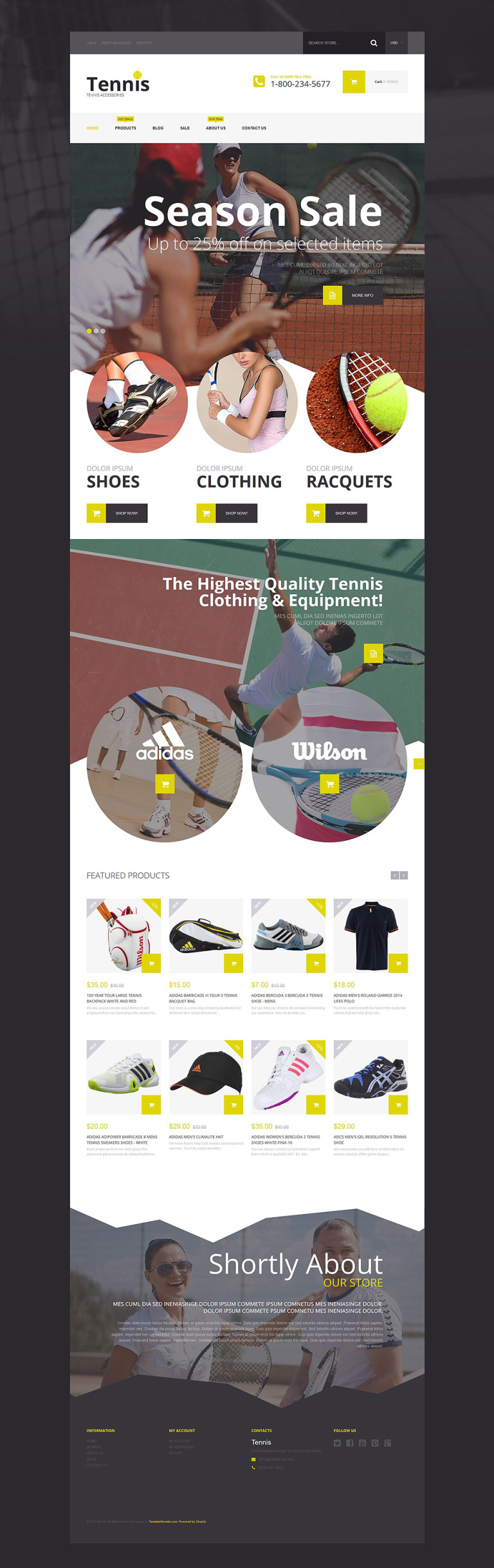 Tennis Accessories Shopify Theme New Screenshots BIG