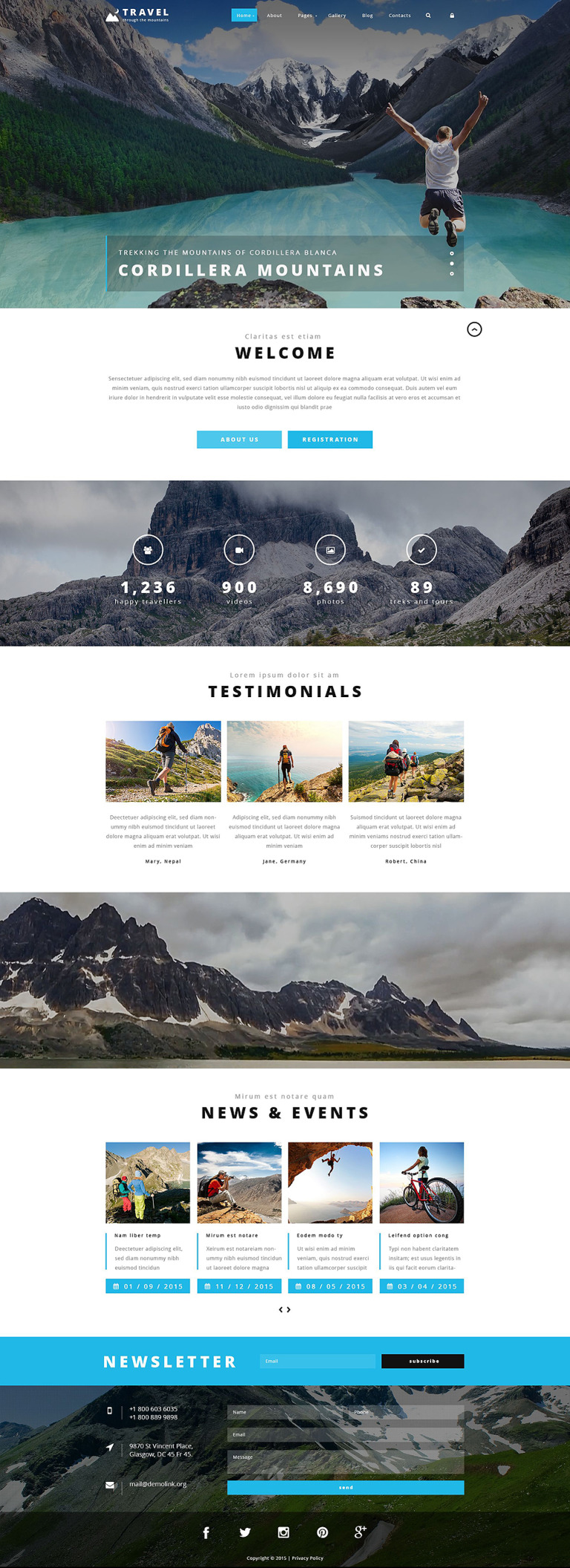 Travel Agency Joomla Template New Screenshots BIG