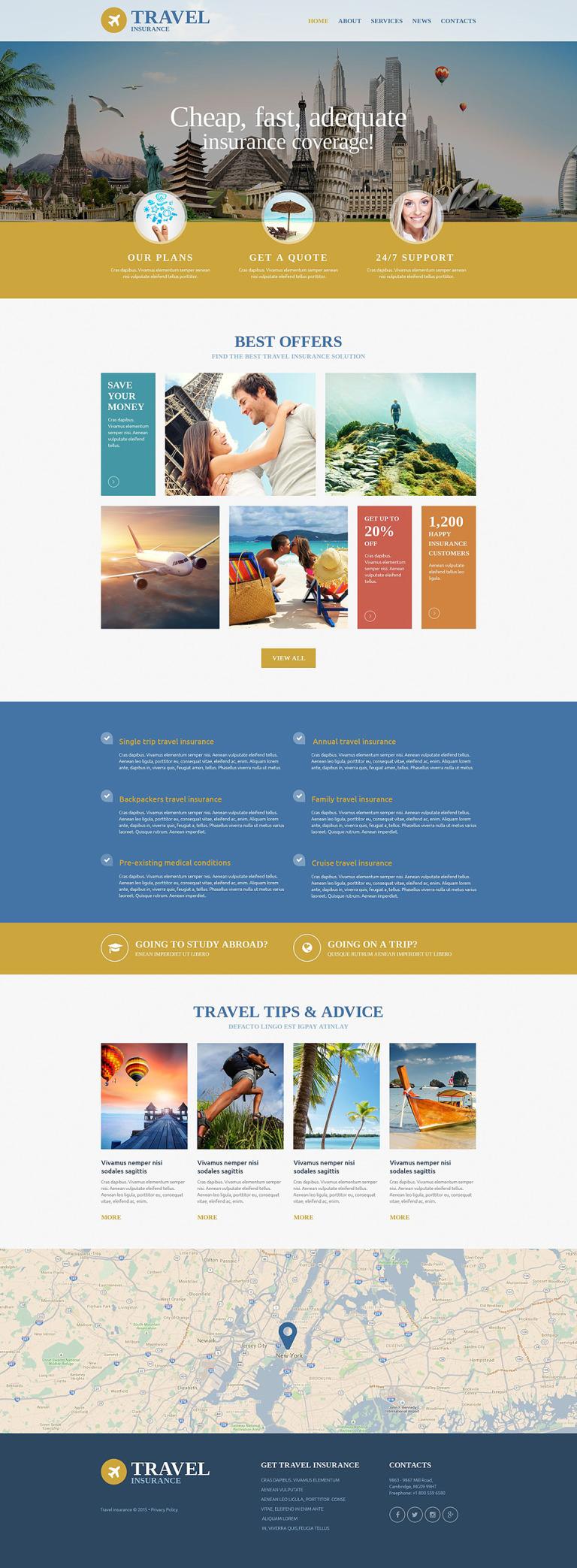 Travel Insurance Agency Website Template New Screenshots BIG