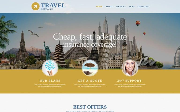 Travel Insurance Agency Website Template