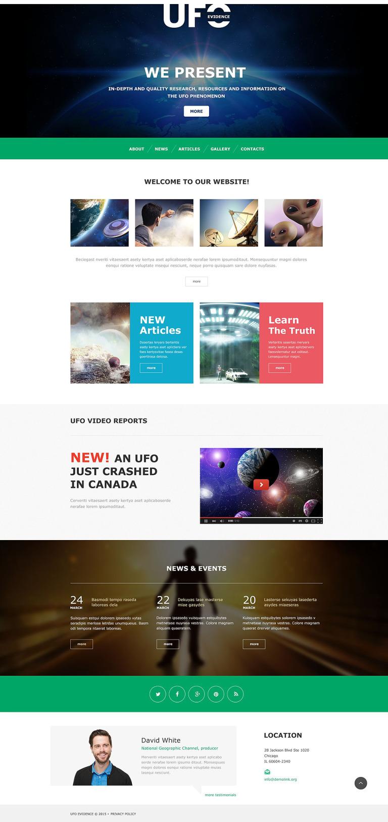 UFO Muse Template New Screenshots BIG