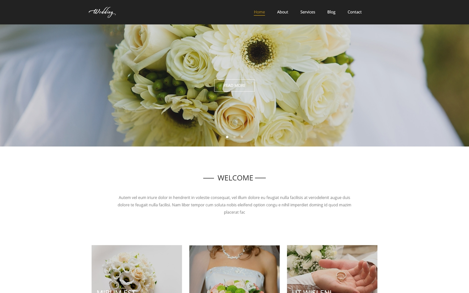 """Wedding - Wedding Salon Multipurpose Modern Elementor"" - адаптивний WordPress шаблон №54584"