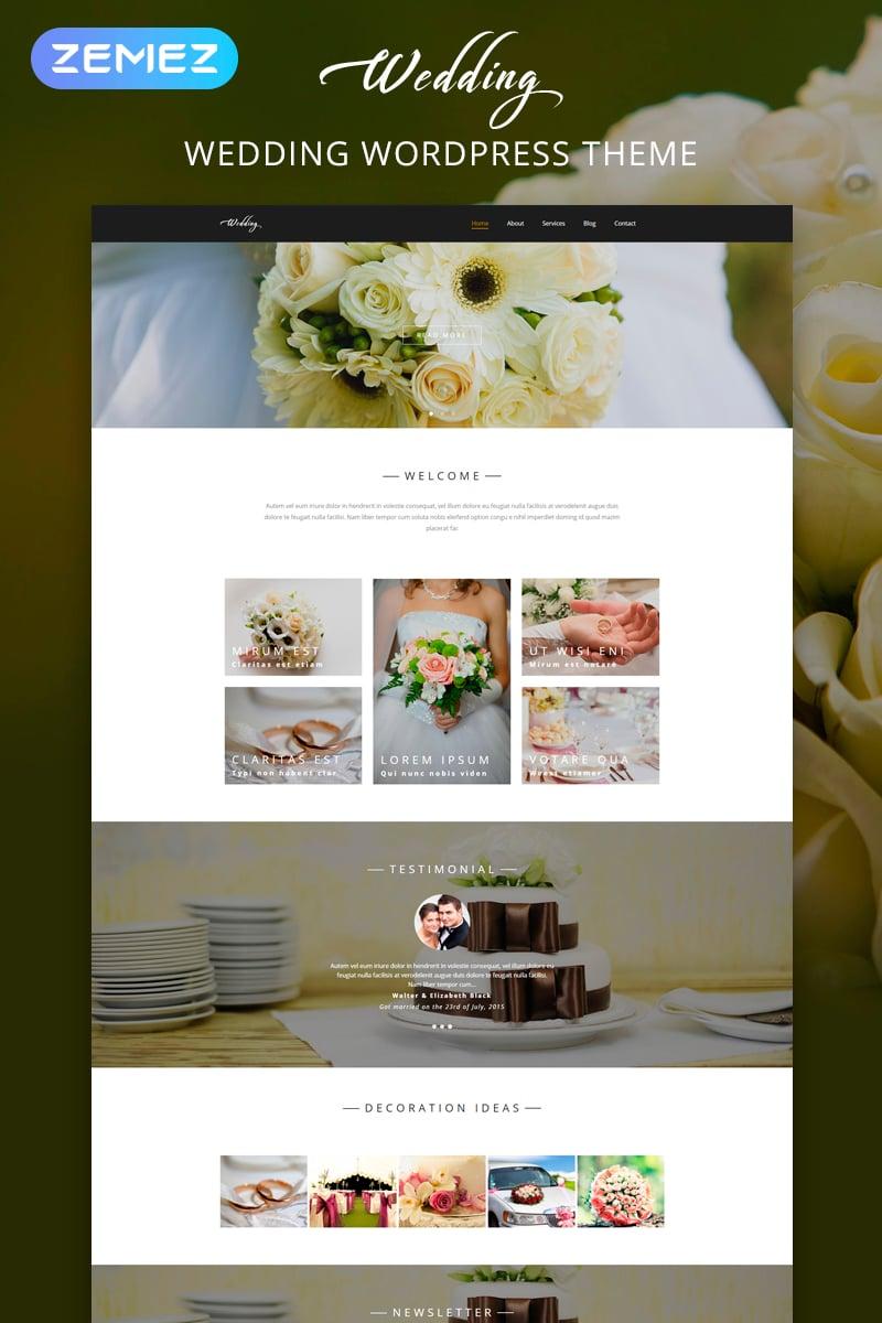 """Wedding - Wedding Salon Multipurpose Modern Elementor"" 响应式WordPress模板 #54584"