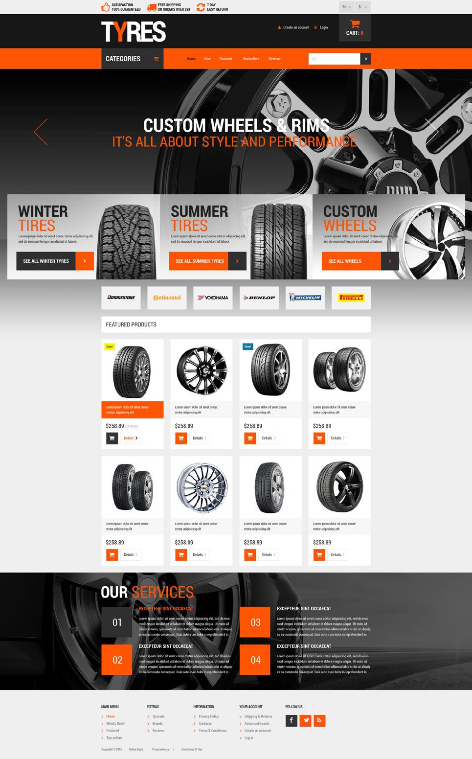 Wheels & Tires OsCommerce Template New Screenshots BIG