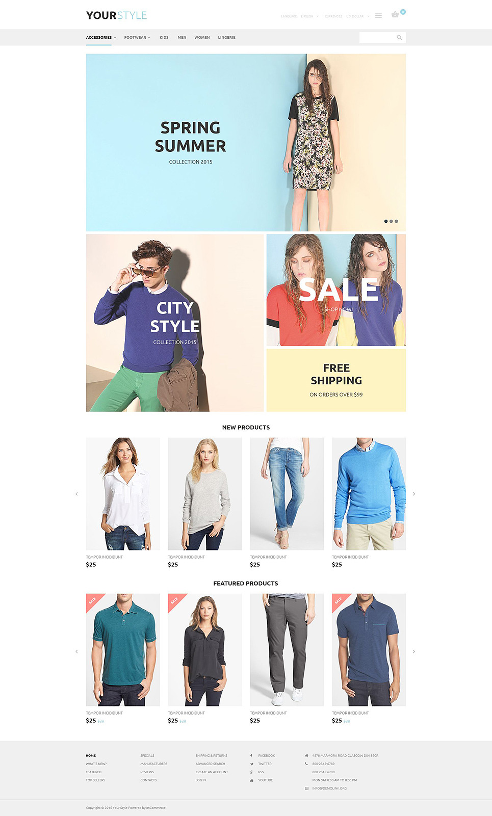 YourStyle OsCommerce Template New Screenshots BIG