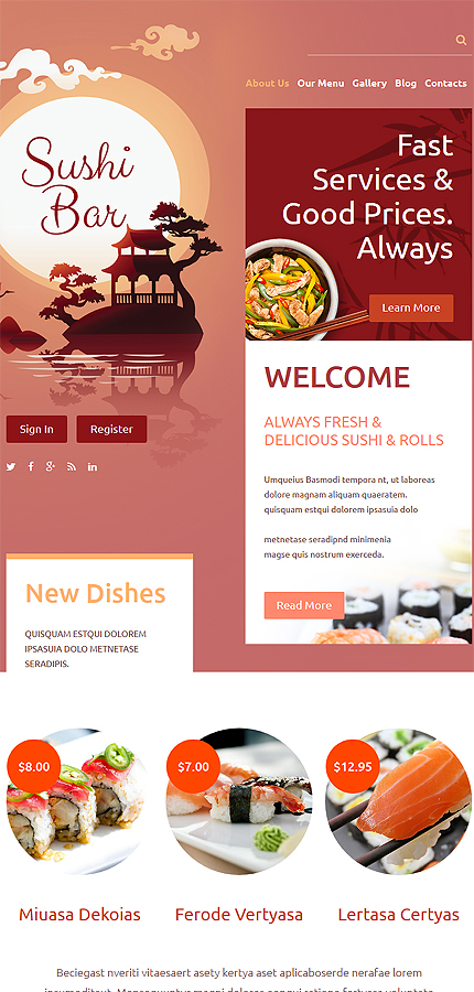 Drupal Template 54603 Main Page Screenshot