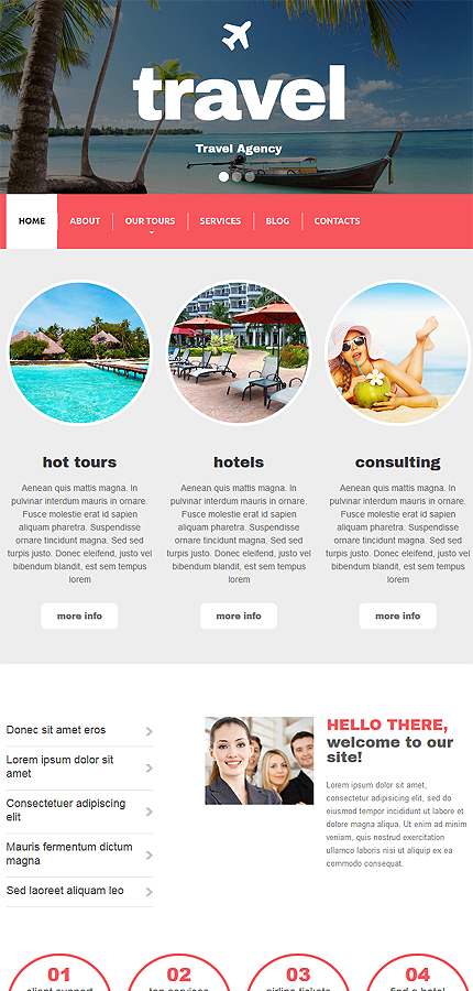 Drupal Template 54605 Main Page Screenshot
