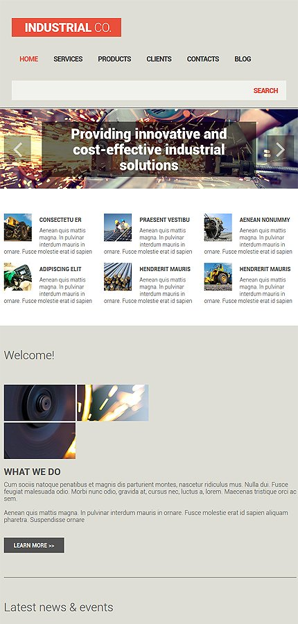 Drupal Template 54612 Main Page Screenshot