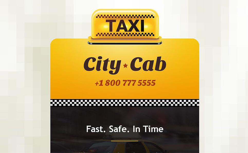 Reszponzív Taxi társaságok Hírlevél sablon New Screenshots BIG