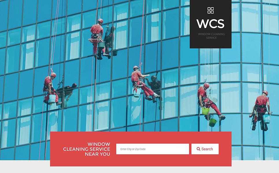 Modèle  De Page D'atterrissage adaptatif  pour sites des entreprises de nettoyage des vitres New Screenshots BIG
