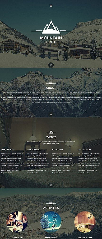 ADOBE Photoshop Template 54623 Home Page Screenshot