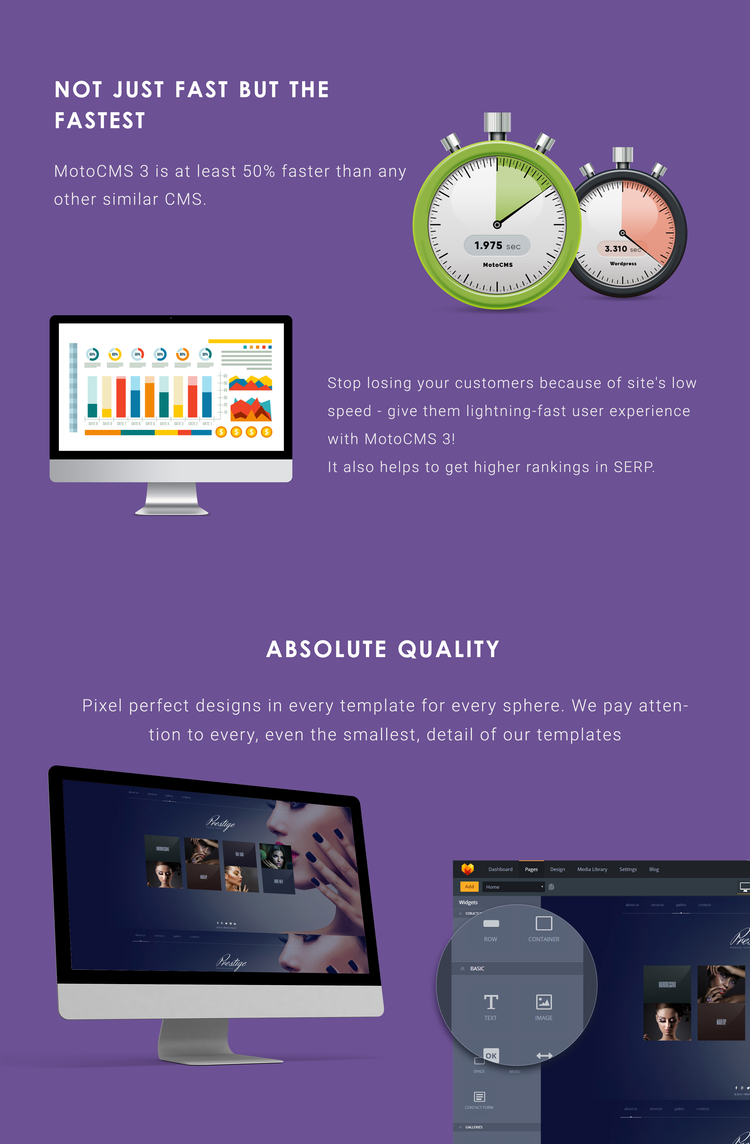 Prestige - Beauty Salon Moto CMS 3 Template