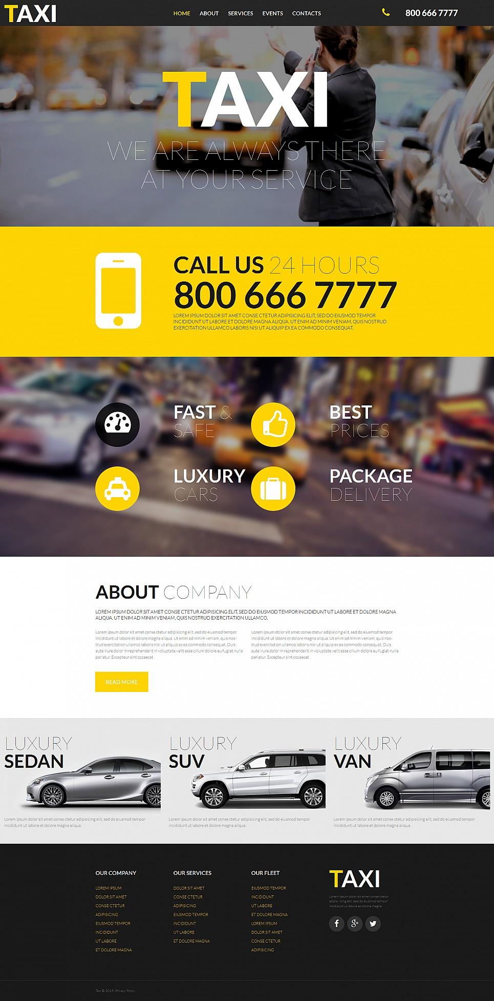 Taxi Service Company Website Design - image