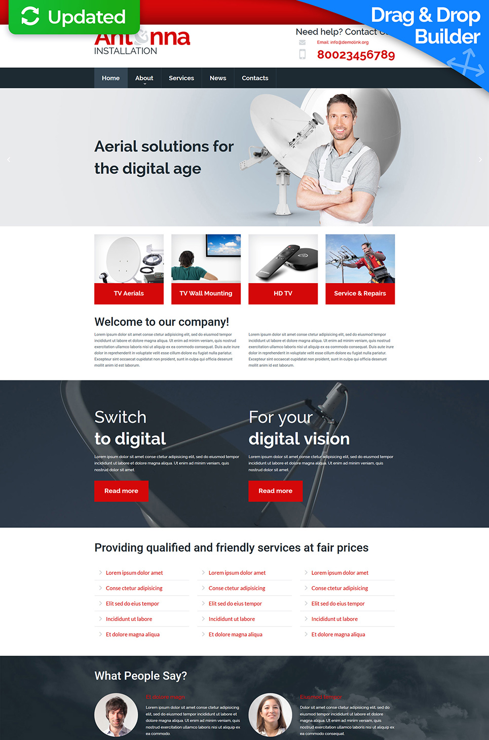 Website Design for Antenna Installations - image
