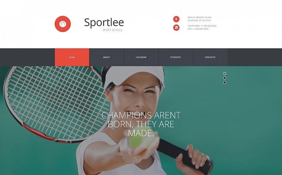 Responsywny szablon Moto CMS 3 #54631 na temat: sport New Screenshots BIG
