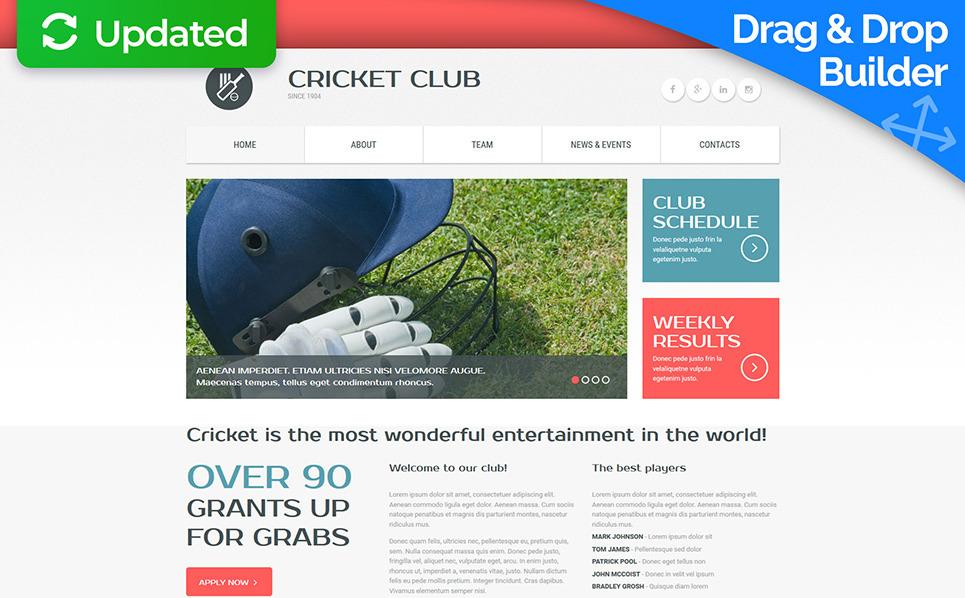 Plantilla Moto CMS 3  Responsive para Sitio de Críquet New Screenshots BIG