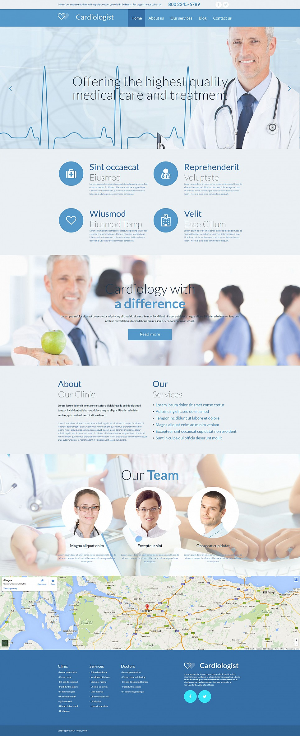 Heart Doctor Website Design - image