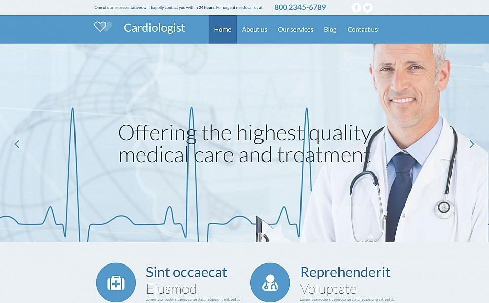 Reszponzív Egészségügy  Moto CMS 3 sablon New Screenshots BIG