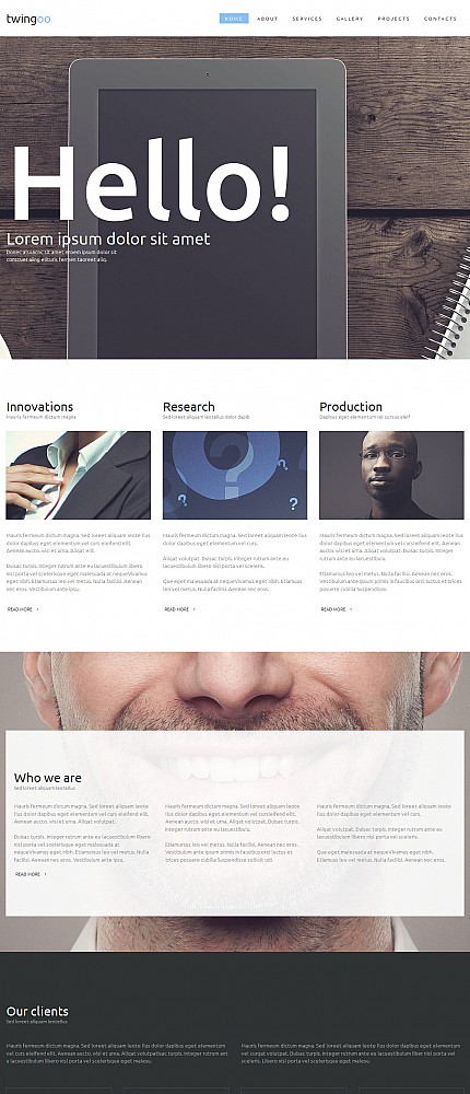 ADOBE Photoshop Template 54640 Home Page Screenshot