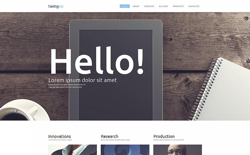 Templates Moto CMS 3 Flexível para Sites de Business & Services №54640 New Screenshots BIG