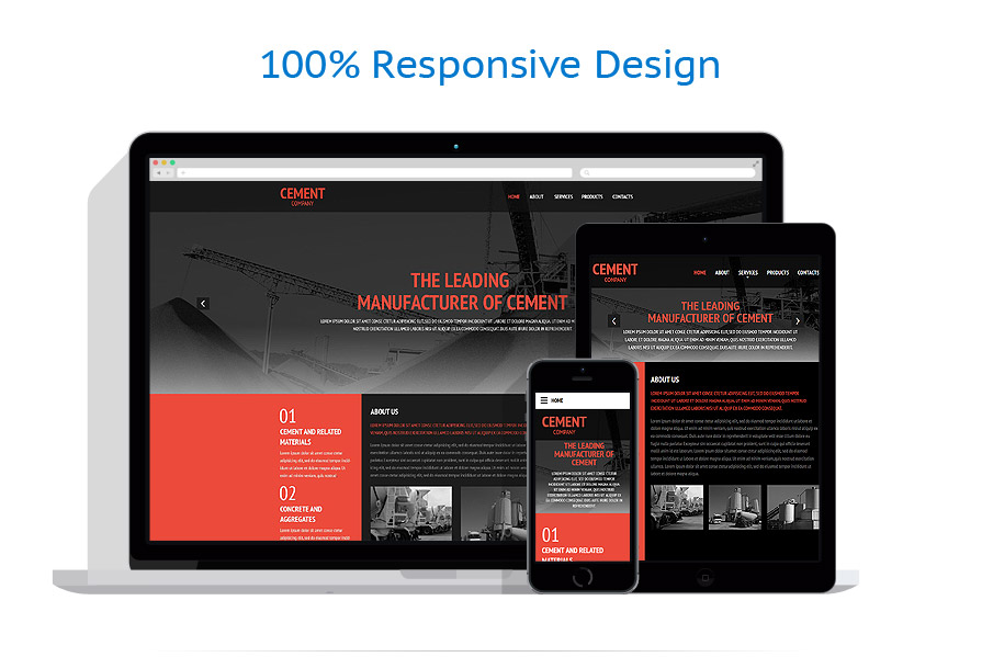 Modèles HTML5 Industriel #54647