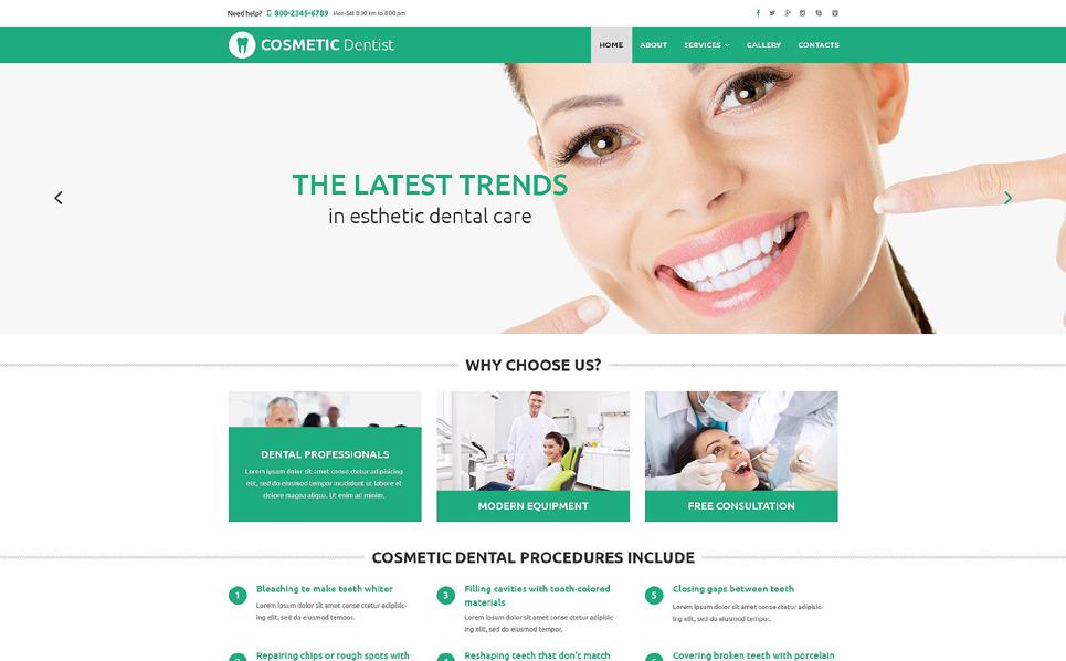 Responsive Website template over Cosmeticawinkel New Screenshots BIG