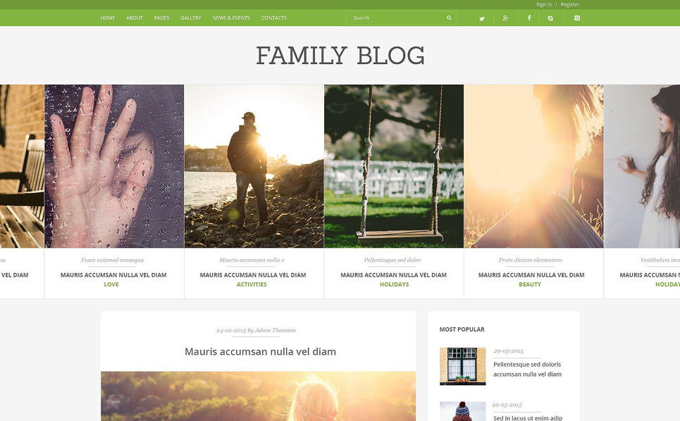 Responsive Joomla Template over Familie  New Screenshots BIG
