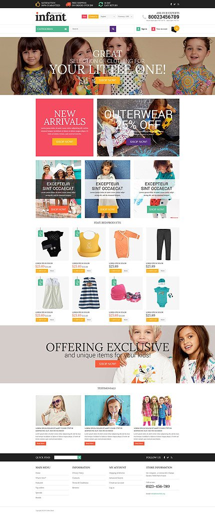 osCommerce Template 54656 Main Page Screenshot