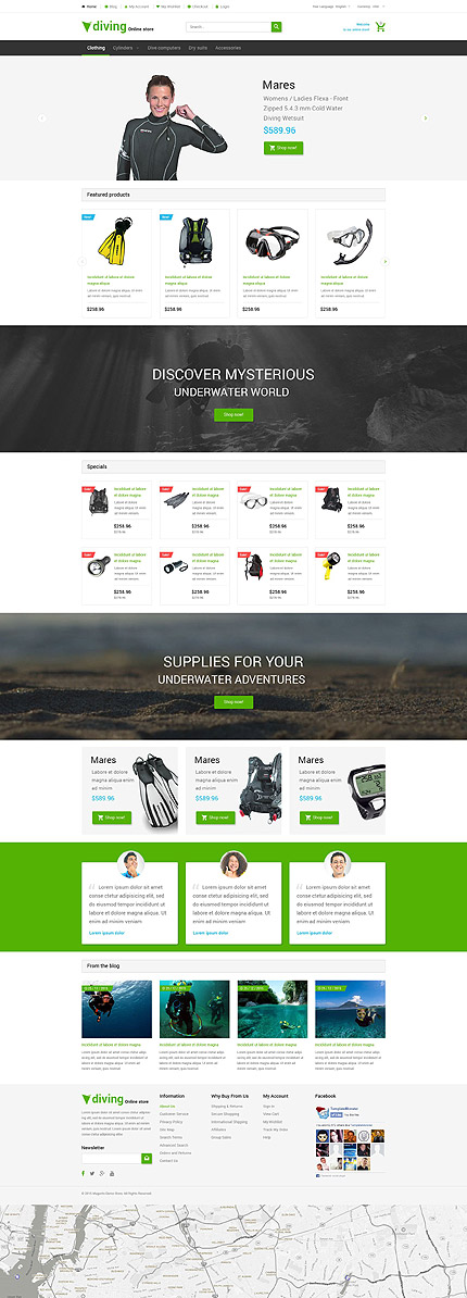Magento Theme/Template 54661 Main Page Screenshot