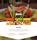Cafe & Restaurant Landing Page  Template 54662