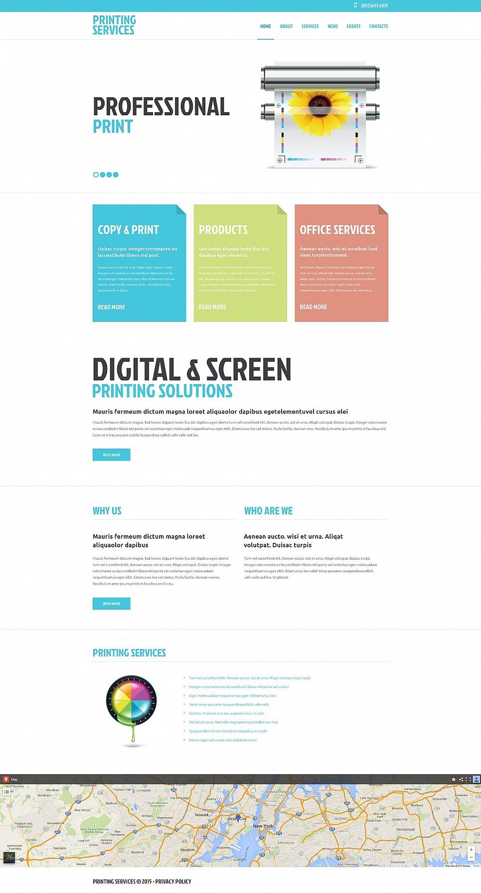 Printer Services Website Template - image