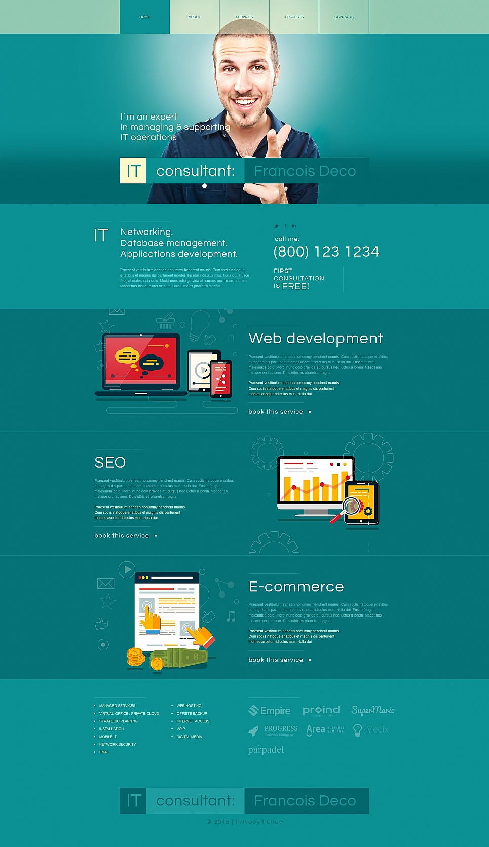 IT Business Website Design with CMS - image