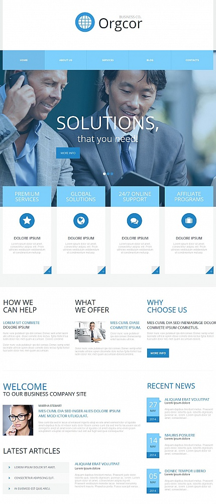 ADOBE Photoshop Template 54667 Home Page Screenshot
