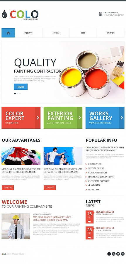 ADOBE Photoshop Template 54669 Home Page Screenshot