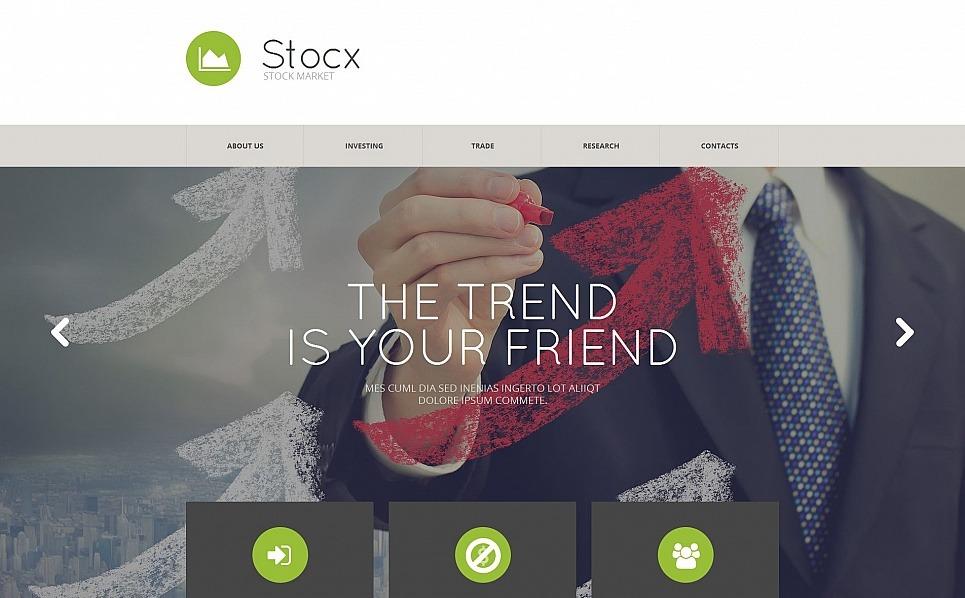 Szablon Moto CMS HTML #54674 na temat: firma inwestycyjna New Screenshots BIG
